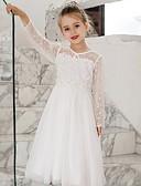 olcso Lány ruhák-Gyerekek Lány Egyszínű Ruha Fehér