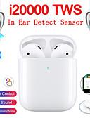 Χαμηλού Κόστους Ασύρματοι φορτιστές-το αυθεντικό i20000 tws αληθινό ασύρματο ακουστικό για ανίχνευση στο αυτί έλεγχος ροής ασύρματα qi χρέωση αυτόματη αναπαραγωγή ανίχνευσης αυτιών και παύση pop-up bluetooth 5.0 σούπερ μπάσο ακουστικά