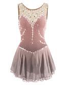 Χαμηλού Κόστους Φόρεμα για παγοδρομία-Φόρεμα για φιγούρες πατινάζ Γυναικεία Κοριτσίστικα Patinaj Φορέματα Βαθύ μπλε Ροζ Γιαν Βιολετί Ροζ Spandex Ελαστίνη Ανταγωνισμός Ενδυμασία πατινάζ Χειροποίητο Jeweled Στρας Αμάνικο
