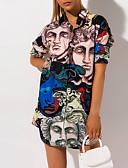 olcso Női ruhák-Női Vintage Ing Ruha Mértani Mini