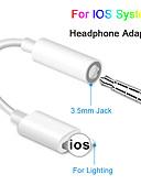 ราคาถูก สายเคเบิลและเครื่องชาร์จ iPhone-สำหรับ ios syetem หูฟัง adaptador สำหรับ iphone 7 8 x aux อะแดปเตอร์เสียงสำหรับสายฟ้าถึง 3.5 มิลลิเมตรอะแดปเตอร์แจ็คหูฟังสายเคเบิล