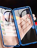 billige Samsung-tilbehør-Etui Til Samsung Galaxy Galaxy A7(2018) / Galaxy A9 (2018) / Galaxy A10 (2019) Flipp / Magnetisk Heldekkende etui Ensfarget Herdet glass / Metall