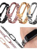 olcso Smartwatch sávok-a xiaomi mi band 4/3 rozsdamentes acél csuklópánt cserélő karóra hevederéhez