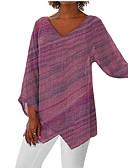 baratos Camisetas Femininas-Mulheres Tamanhos Grandes Camiseta Básico Estampa Colorida Decote V Vermelho