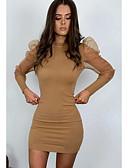 povoljno Ženske haljine-Žene Ulični šik Bodycon Haljina Jednobojni Iznad koljena