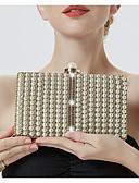 Χαμηλού Κόστους Βραδινά Φορέματα-Γυναικεία Αλυσίδα Κράμα Βραδινή τσάντα Ριγέ Μαύρο / Χρυσό / Ασημί