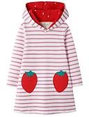 baratos Vestidos para Meninas-Infantil Para Meninas Estilo bonito Listrado Vestido Rosa