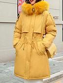 olcso Női hosszú kabátok és parkák-Női Színes Pehely, Poliészter / POLY Fekete / Dusty Blue / Fehér M / L / XL