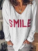 billige Bluser-T-skjorte Dame - Bokstaver Svart