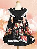 povoljno Lolita haljine-Inspirirana Cosplay Kostimi sluškinje Anime Cosplay nošnje Japanski Cosplay Suits Suknja / Luk / Remen Za Žene / Traka / vrpca