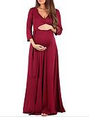 זול שמלות-מקסי אחיד - שמלה נדן סגנון רחוב בגדי ריקוד נשים
