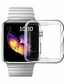 זול מקרה Smartwatch-מקרים לסדרת שעון התפוחים 5 / סדרת השעונים התפוחים 4/3/2/1 תאימות tpu תפוח