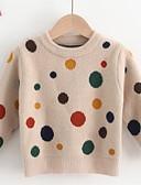 povoljno Džemperi i kardigani za bebe-Dijete Djevojčice Osnovni Jednobojni Dugih rukava Džemper i kardigan Bež