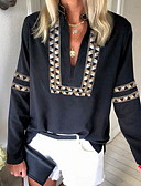 billige Nyheter-T-skjorte Dame - Geometrisk Svart