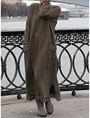 olcso Maxi ruhák-Női Kötött Ruha Egyszínű Maxi