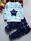 povoljno Haljine za djevojčice-Dijete koje je tek prohodalo Dječaci Osnovni Print Dugih rukava Komplet odjeće Svjetloplav