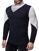 olcso Férfi pólók és kardigánok-Férfi Egyszínű Hosszú ujj Pulóver Pulóver jumper, Körgallér Ősz / Tél Tengerészkék / Szürke US34 / UK34 / EU42 / US36 / UK36 / EU44 / US38 / UK38 / EU46