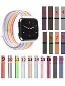 baratos Bandas de Smartwatch-Para fitbit versa / versa lite / versa se / versa 2 tecido nylon loop relógio esportivo pulseira de substituição pulseira