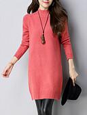 olcso Női ruhák-Női Elegáns Kötött Ruha Egyszínű Térd feletti