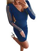olcso Mini ruhák-Női Alap Boho Bodycon Hüvely Ruha - Kollázs, Egyszínű Térd feletti