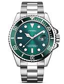 ราคาถูก นาฬิกาข้อมือหรูหรา-SINOBI สำหรับผู้ชาย นาฬิกาข้อมือ ญี่ปุ่น นาฬิกาอิเล็กทรอนิกส์ (Quartz) สแตนเลส เงิน 30 m กันน้ำ Creative กันกระแทก ระบบอนาล็อก ความหรูหรา วิบวับ คลาสสิก แฟชั่น ที่เรียบง่าย -  / noctilucent