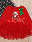 baratos Vestidos para Meninas-Infantil Para Meninas Natal Vestido Vermelho