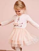 billiga Flickklänningar-Barn Flickor Djur Klänning Rodnande Rosa
