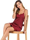 Χαμηλού Κόστους Βραδινά Φορέματα-Γυναικεία Μπέιμπι-ντολ & Σλιπ Πυτζάμες Μαύρο Κρασί Λευκό Τ M L