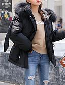 olcso Női hosszú kabátok és parkák-Női Egyszínű Rövid Kosaras, Pamut Fekete / Arcpír rózsaszín / Katonai zöld M / L / XL