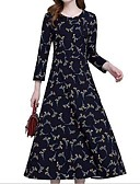 olcso Női ruhák-Női Sifon Ruha Virágos Maxi