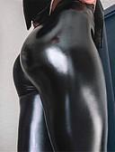 baratos Calças Femininas-Mulheres Básico Chinos Calças - Sólido Preto S M L