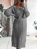 olcso Női ruhák-Női Alap A-vonalú Ruha Egyszínű Midi