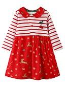 olcso Lány divat-Gyerekek Lány aranyos stílus Csíkos Karácsony Aszimmetrikus Ruha Rubin