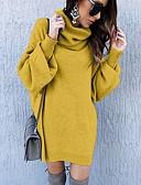 olcso Estélyi ruhák-Női Alap Kötött Ruha Egyszínű Térd feletti