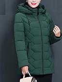 olcso Női hosszú kabátok és parkák-Női Egyszínű Szokványos Kosaras, Poliészter Fekete / Bor / Medence XL / XXL / XXXL