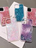 baratos Capinhas para iPhone-Capinha Para Apple iPhone 11 / iPhone 11 Pro / iPhone 11 Pro Max Liquido Flutuante / Estampada / Glitter Brilhante Capa traseira Transparente TPU
