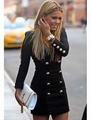 olcso Női ruhák-Női Hüvely Ruha Egyszínű Mini