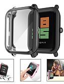 olcso Smartwatch tok-puha bevonatú, tiszta védőtok, huami amazfit bip ifjúsági tokhoz, héj képernyővédőhöz