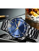 baratos Relógios-Homens Relógios de aço Quartzo Calendário Noctilucente Data do dia Analógico Fashion