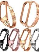 baratos Bandas de Smartwatch-Xiaomi mi banda 4 substituição de luxo pulseira de relógio inteligente pulseira de aço inoxidável pulseira pulseiras mi banda banda 3/4 caixa de metal