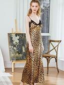 billige Sexy Kropper-Dame Dyp V Strømpebånd og hofteholder Pyjamas - Leopard