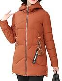 olcso Női hosszú kabátok és parkák-Női Egyszínű Kosaras, Poliészter / POLY Fekete / Bor / Világosbarna L / XL / XXL