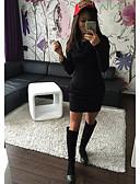billige Bikinis-Dame Elegant Skjede Kjole - Ensfarget Mini