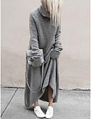 olcso Maxi ruhák-Női Elegáns Egyenes Ruha - Nyomtatott, Egyszínű Maxi
