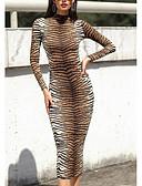 olcso Női ruhák-Női Utcai sikk Bodycon Ruha Állat Midi