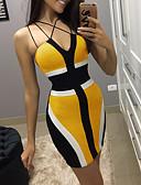 Χαμηλού Κόστους Μίνι Φορέματα-Γυναικεία Θήκη Φόρεμα - Συνδυασμός Χρωμάτων Πάνω από το Γόνατο