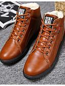 povoljno Večernje haljine-Muškarci Vojničke čizme PU Jesen zima Uglađeni Čizme Hodanje Ugrijati Čizme gležnjače / do gležnja Crn / Braon / Sive boje