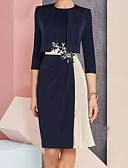 baratos Vestidos de Mulher-Mulheres Reto Vestido Estampa Colorida Altura dos Joelhos