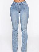 billige Jumpsuits og sparkebukser til damer-Dame Grunnleggende Bootcut Bukser - Ensfarget Lapper Blå S M L