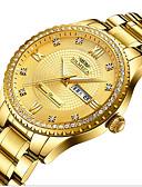 baratos Relógios-Homens Relógios de aço Quartzo Calendário Noctilucente Data do dia Analógico Luxo Fashion